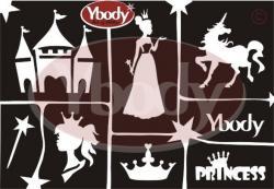 Ybody Schablonen Set DIN A5 / Prinzessin