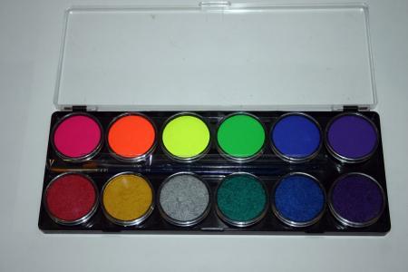 Diamond FX 12 x 10g Farben Palette Neon/Metallic