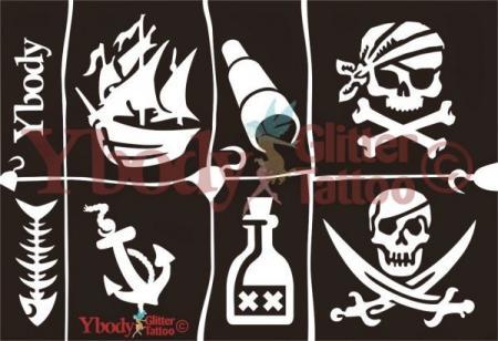 Ybody Schablonen Set DIN A5 / Piraten