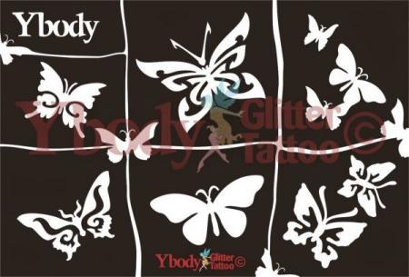 Ybody Schablonen Set DIN A5 / Schmetterlinge