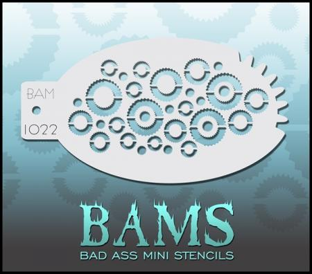 Bad Ass Mini Stencil 1022