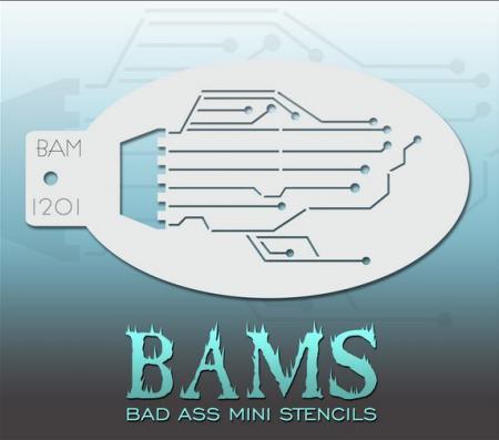Bad Ass Mini Stencil 1201