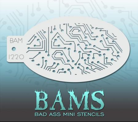 Bad Ass Mini Stencil 1220