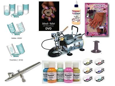 Airbrush Nailart Fingernagel Komplett Set Style + DVD