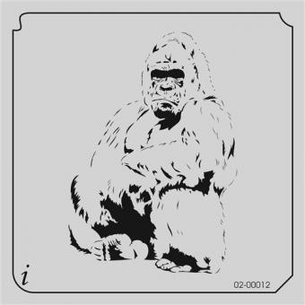 istencils 12,7cm x 12,7cm Gorilla
