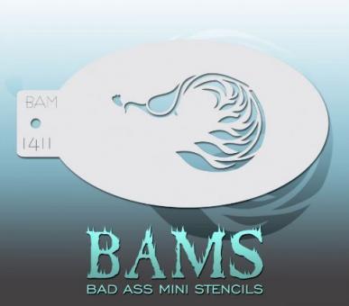 Bad Ass Mini Stencil 1411