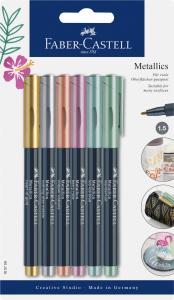 Faber-Castell Metallics Marker / 6er Set