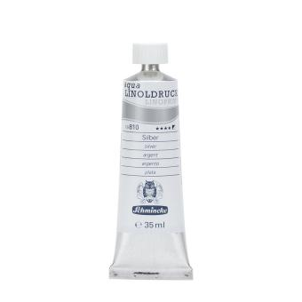 Aqua Linoldruckfarbe 35ml / Silber