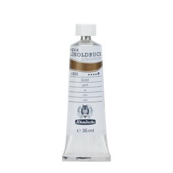 Aqua Linoldruckfarbe 35ml / Gold