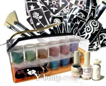 Ybody Premium Set 100 Black & Glitter