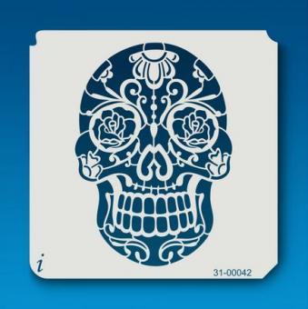 istencils 12,7cm x 12,7cm Sugar Skull