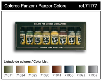 Vallejo ModelAir Farbset / Panzerfarben 8 x 17ml