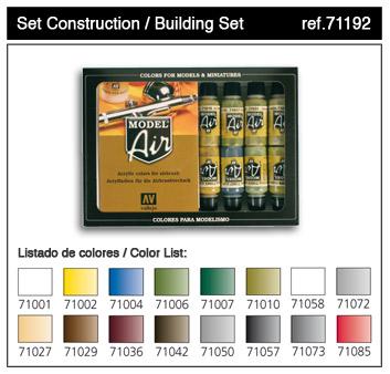 Vallejo ModelAir Farbset / Bausatz Farbenset 16 x 17ml