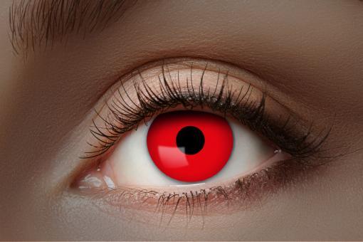UV Kontaktlinsen / UV Flash Red / 1 Monatslinse