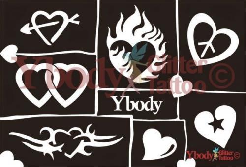 Ybody Schablonen Set DIN A5 / Herzen