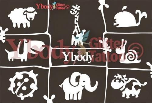 Ybody Schablonen Set DIN A5 / Süße Tierwelt