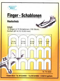 Finger-Schablonen - Hautschutz / 150 Stück Airbrush