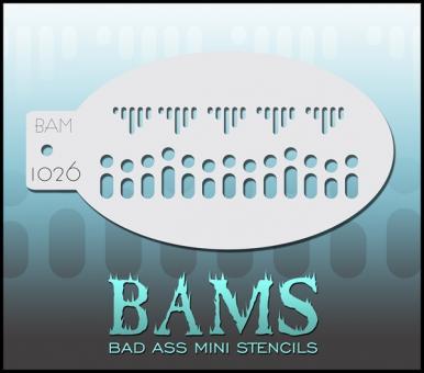 Bad Ass Mini Stencil 1026