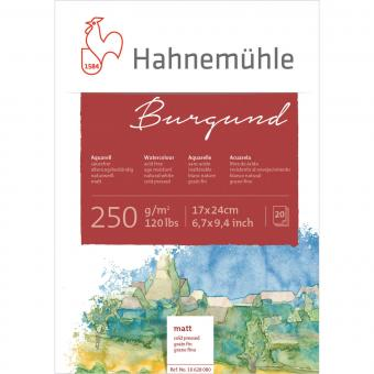 Aquarellblock Burgund, rau, 250 g/m², 20 Blatt, 17 x 24cm