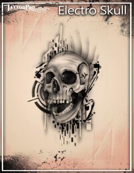 Tattoo Pro Stencil / Electro Skull