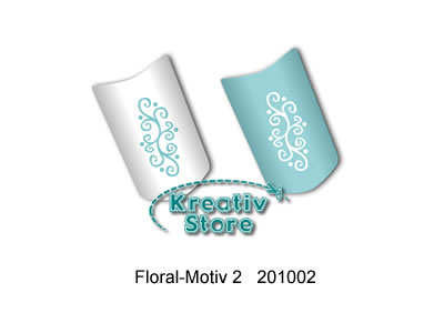 Nailart Schablonen selbstklebend / Floral-Motiv 2