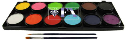 Diamond FX Schminkfarbenpalette 12 x 10g