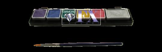 Diamond FX  Metallic Palette 1 x 6g + 5 x3g