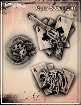 Tattoo Pro Stencil / Guns & Gamblin