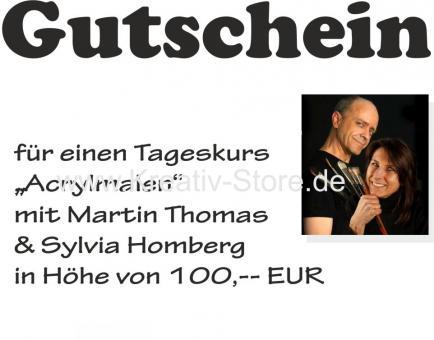 Gutschein / Acrylmalkurs mit Martin Thomas