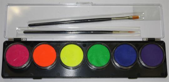 Diamond FX 6 x 10g Farben Palette Neon