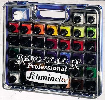 Aero Color Professional / Kofferset 37 x 28ml + Aero Clean Rapid 125ml