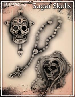 Tattoo Pro Stencil / Sugar Skulls