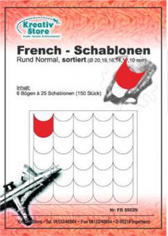 French Schablonen selbstklebend / FR5501 Rund Normal