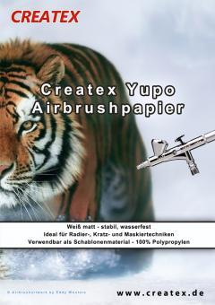 Createx Yupo Airbrushpapier 32x22,5cm 200g/m²