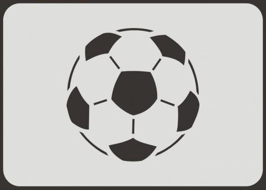 Fußball Schablone